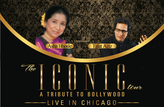 The iconic tour featuring ASHA BHOSLE & TALAT AZIZ