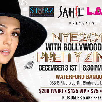 NYE 2016 WITH BOLLYWOOD DIVA PREITY ZINTA